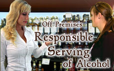 Bartending License, alcohol server / seller training certificate / Off-Premises Responsible Serving®